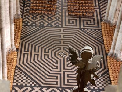Amiens cathédrale labyrinthe, Somme