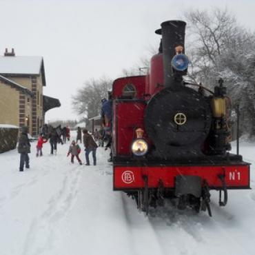 Chemin de fer de la baie de Somme-hiver©CFBS