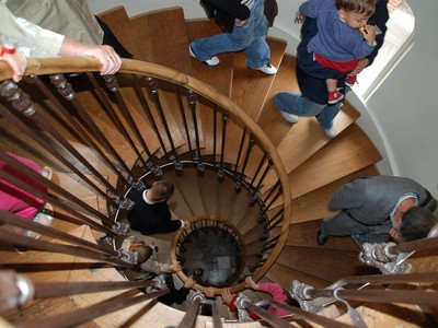Escalier à vis_maison de Jules Verne © S. Crampon